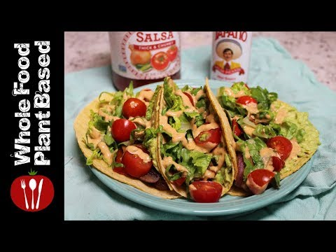 Plant Based Vegan Mushroom Tacos: Whole Food Plant Based Recipes