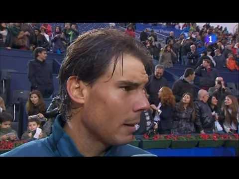 Rafa Nadal vs. Milos Raonic, 6-4 y 6-0, Semifinal del Conde de Godó 2013