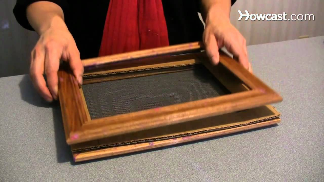 How To Make A Handmade Paper Picture Frame Youtube