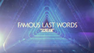 Famous Last Words - Scream (Official Video)