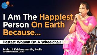 Fastest Woman on a Wheelchair - Malathi Krishnamurthi   Josh Talks Bangalore