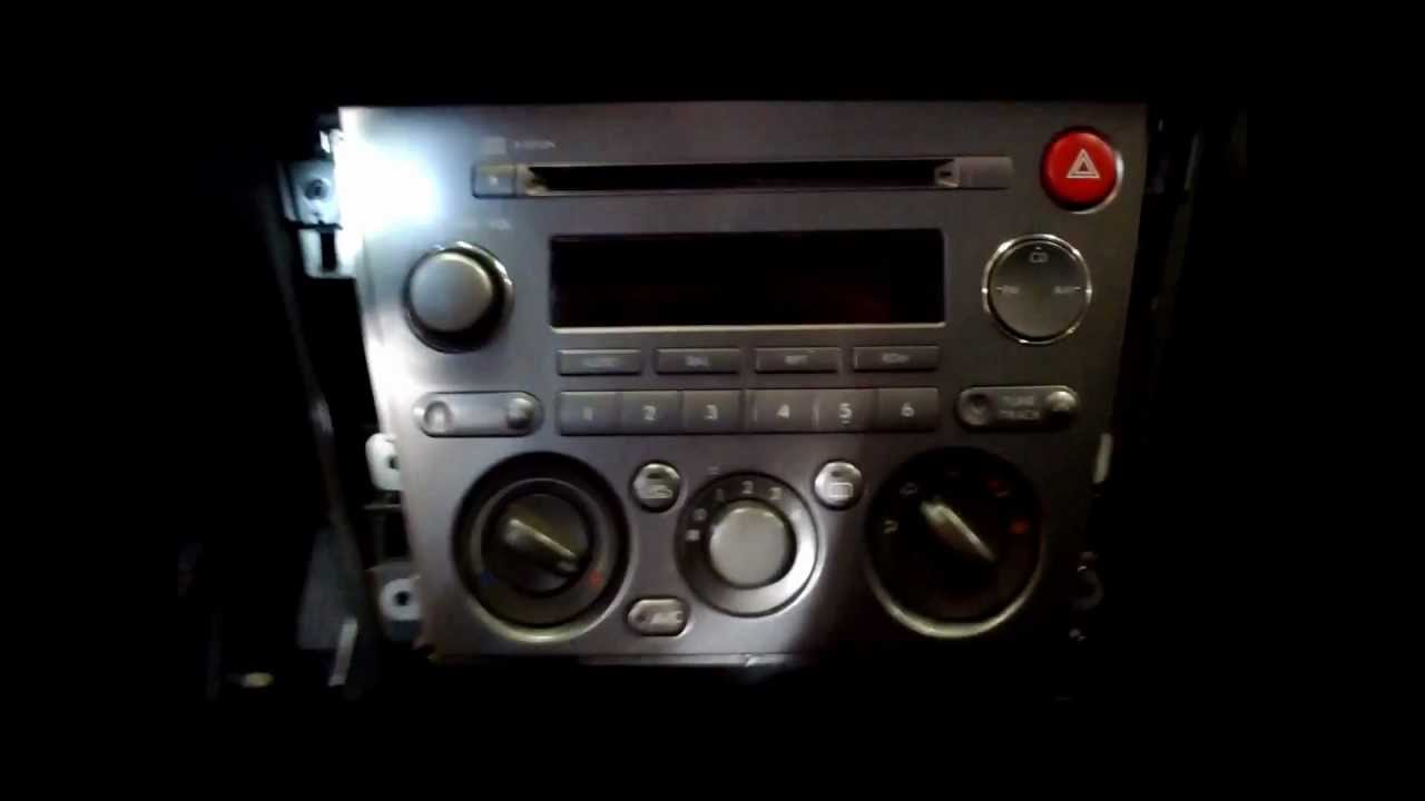 How To Remove A 0509 Subaru Legacy Forester Outback Radio YouTube