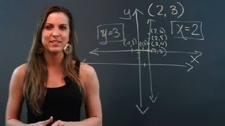 How to Write Equations for the Vertical & the Horizontal Lines Passing Through the P... : Math Tips