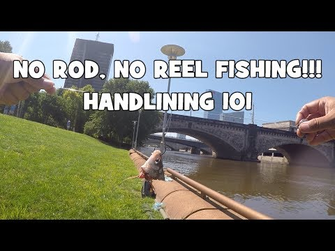 NO ROD NO REEL FISHING! Handlining 101! :) (Philadelphia, PA)