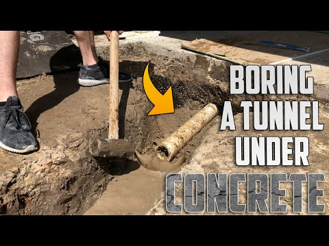 Tunneling Under a Concrete Footing for a Sewage Drain