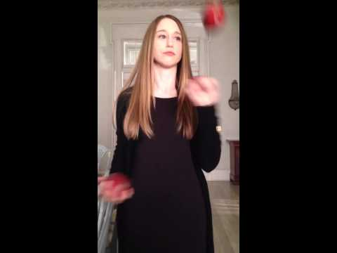Taissa Farmiga juggles apples on set of American Horror Story: Coven