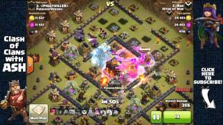 Clash of Clans - 3 Stars Max Defense TH10 with GoWiWi 3 Freeze Spells