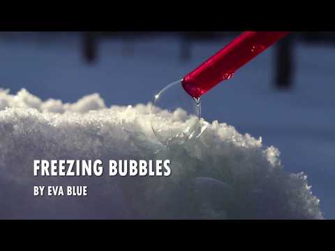 Freezing Bubbles in Montreal by Eva Blue