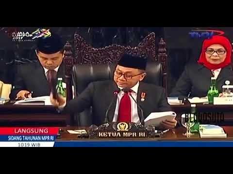 Doa Penutup Dari H Tifatul Sumbiring Sidang MPR 2017