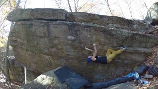 Gunks Bouldering: Peter's Kill: Rock Never Dies V8