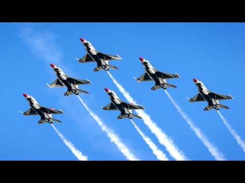 Air Force Thunderbirds At Melbourne Air Show 2018 - Free Air Show At Walter's House (V1198)