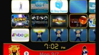 Custom Wii Menu - Vegeta