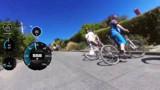 기네스북에서 인정한 세계에서 가장 가파른 업힐, 뉴질랜드 남섬 더니든에 위치한 Baldwin Street