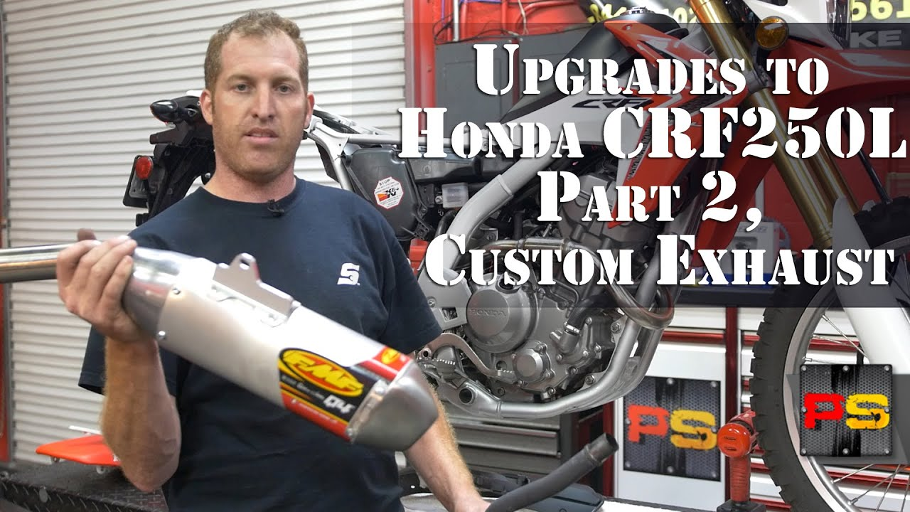 powersports  palm beach upgrades  honda crfl part  installing fmf  exhaust