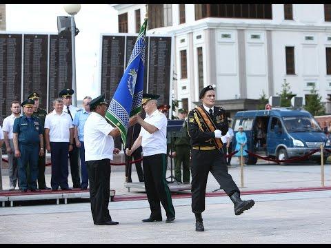 Церемония вручения знамени Управлению ФССП России по Тюменской области