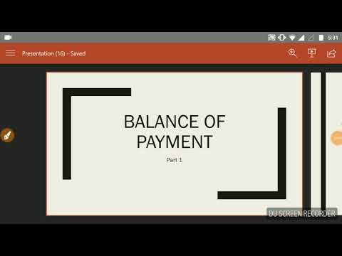 Balance of payment (full)