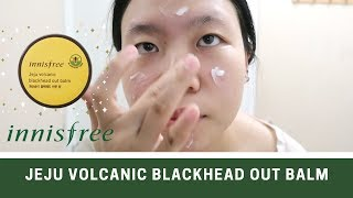 I USED INNISFREE JEJU VOLCANIC BLACKHEAD OUT BALM FOR 2 WEEKS!