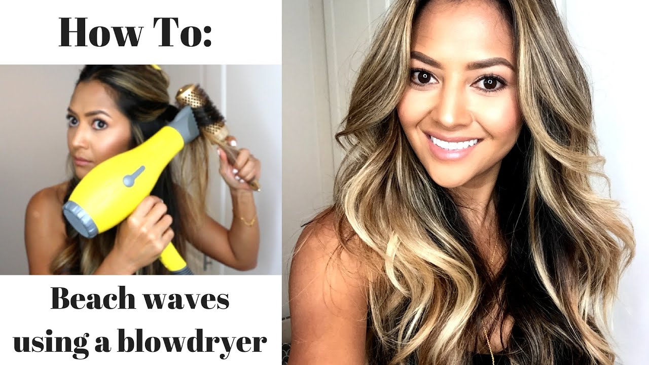How To Get A Beach Wave Blow Out At Home Youtube