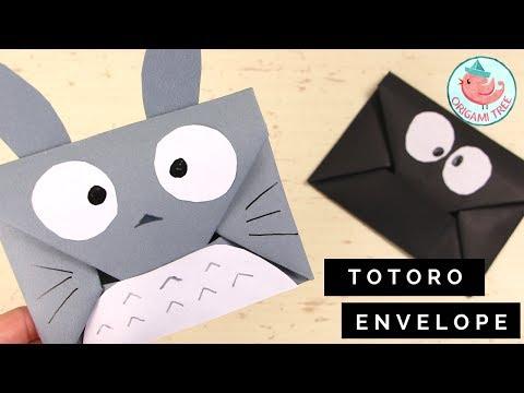 How to Make an Origami Envelope Tutorial - Easy DIY Totoro Origami Envelope