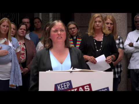 Keep Texas Open for Business News Conference at the Austin Capitol