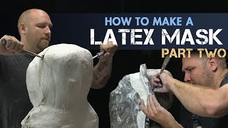 How to Make a Latex Rubber Mask Part 2 - Mold Making - PREVIEW