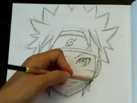 How To Draw Naruto (Face and Head)