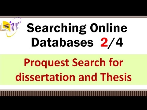 Searching Online Databases (2/4)