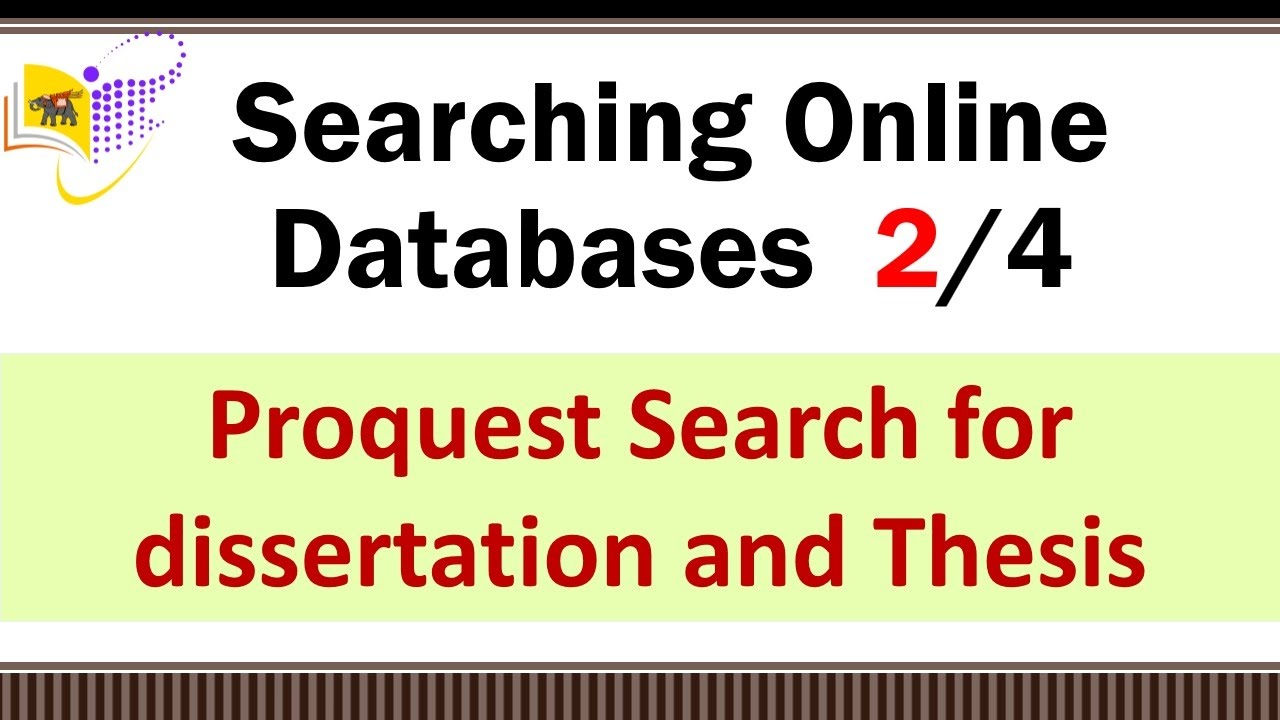 search thesis proquest Select what you would like to search from the following options additional filters are available after the search field  (aps), environmental science & pollution management, ethnic newswatch, oxresearch, proquest dissertations and theses, proquest historical annual reports, proquest historical newspapers, proquest research library.