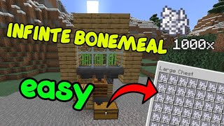 How To Build An Bonemeal Farm [EASY] Minecraft BEDROCK PS4 PC Xbox And Java 1.14 - 1.16