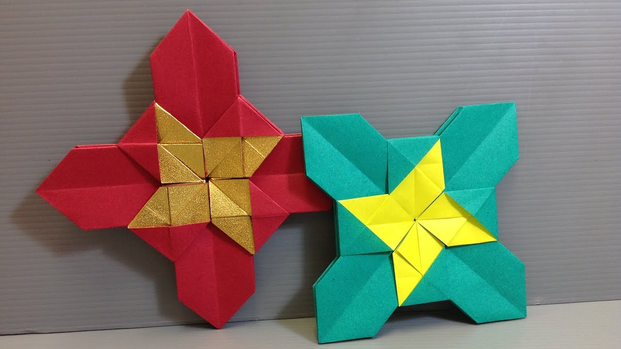 Easy Origami Christmas Castle Modular Cross