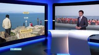Migranten Marokko maken levensgevaarlijke oversteek