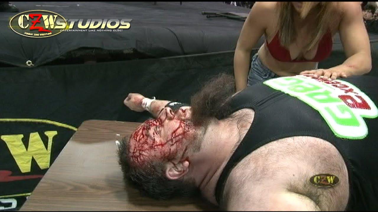 Mia Yim vs. Greg Excellent   TLC Match   CZWstudios.com   Intergender Wrestling