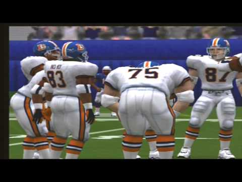 Madden NFL 2001 1996 Denver Broncos vs 1996 New England Patriots