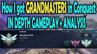 How I got Grandmasters in Conquest Analysis Gameplay SMITE
