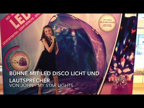 Bühne mit LED Disco Licht und Lautsprecher