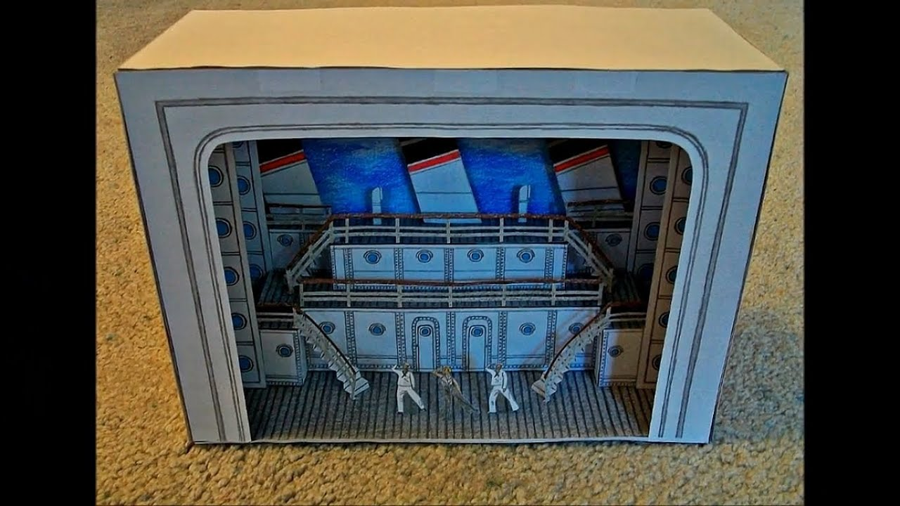 Papercraft Paper Model of Anything Goes the Musical (2011 Broadway Revival Stage Set Design)