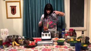 Andrea Riggs Tortilla Soup in My Vitamix www.metamorphosis16.com