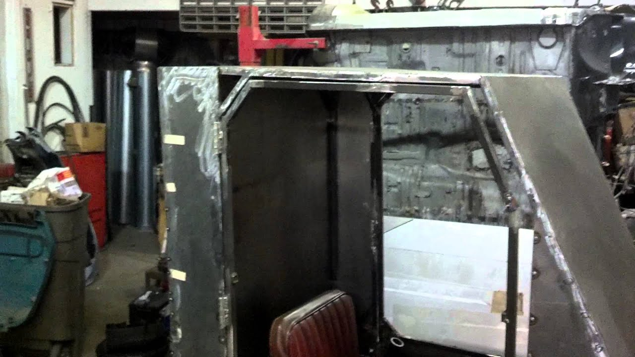 Homemade Tractor Cab 1970 S Dynamark Tractor Youtube