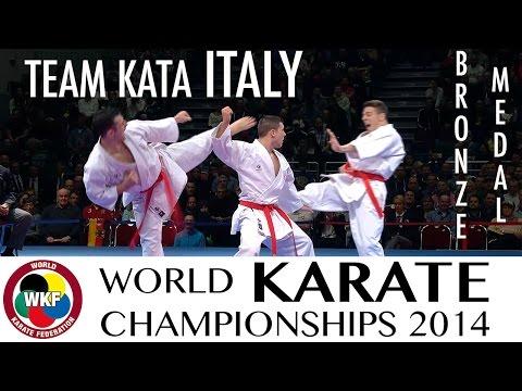 Team Kata ITALY. Kata Gankaku. Bronze Medal. 2014 World Karate Championships