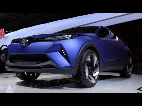 Toyota Unveils Hybrid Crossover C-HR Concept Vehicle