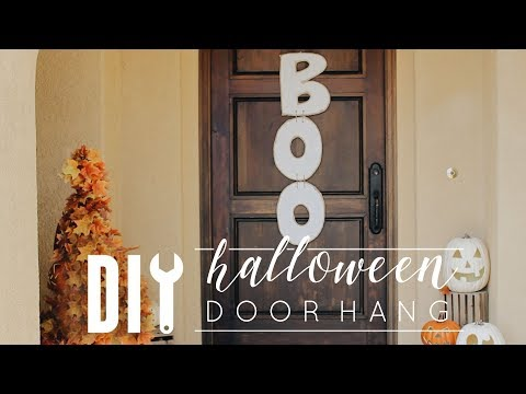 DIY Halloween Decor | Cheap & Easy Door Hang!
