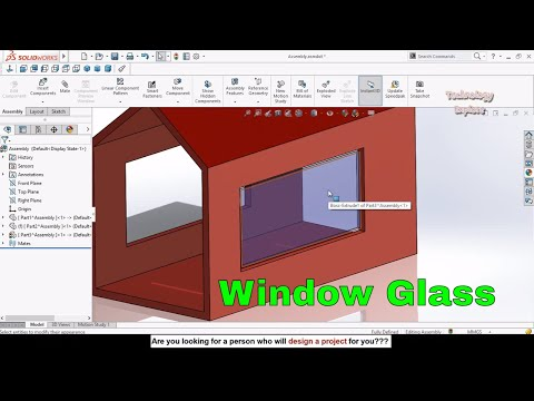 How To Make Home Window Glass In SolidWorks