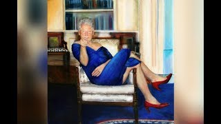 Conservative Twins Bill Clinton Painting In Blue Dress & Heels