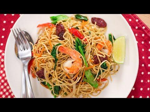 Pancit Canton Recipe - Filipino Egg Noodle Stir-Fry - Pai's Kitchen