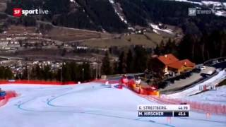 MARCEL HIRSCHER Schladming 2012 Super-G 3. Rang