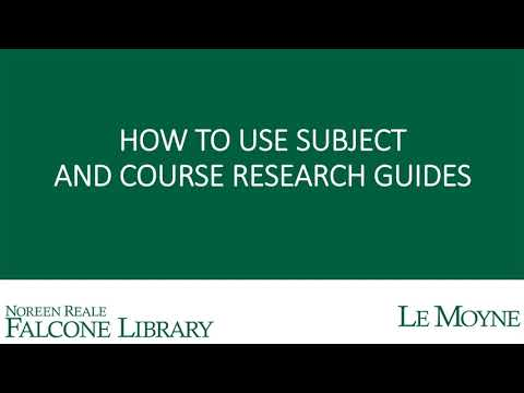 Download How to Use Subject and Course Research Guides