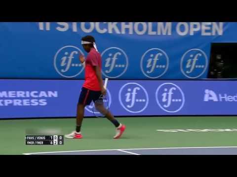 Elias Ymer   Mikael Ymer vs Mate Pavic   Michael Venus Highlights Stockholm 2016