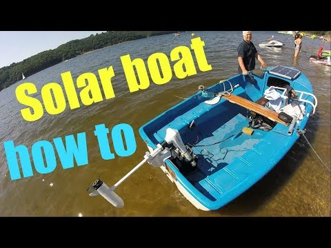 How to make an electric / solar boat! - full guide