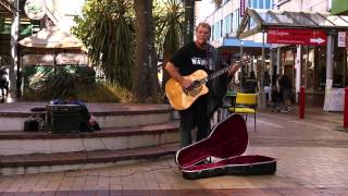 Roger - Wanna Find Love (Busking on Cuba Street)