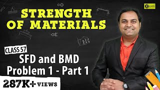 SFD and BMD - Problem 1 - Part 1 - Shear Force and Bending Moment Diagram - Strength of Materials
